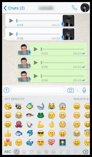 iPhone WhatsApp Smileys Emoji Emoticons