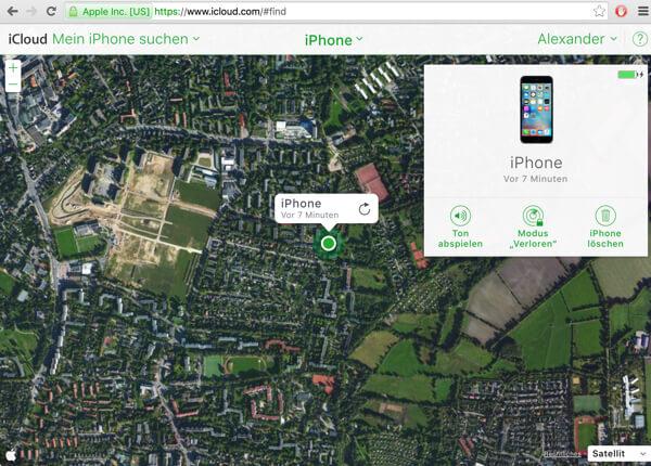 iPhone auf der Karte lokalisieren