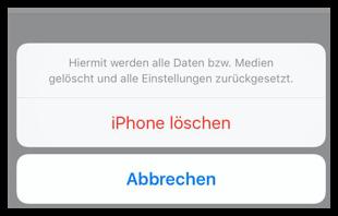 iPhone löschen