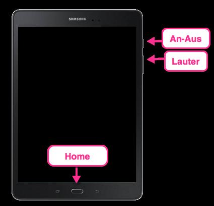 Samsung Galaxy Tab Senkrecht Hard Reset