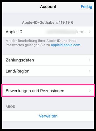 iPhone iPad Bewertungen und Rezenssionen