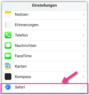 iPhone iPad Safari-Einstellungen