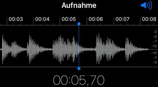 Tonaunahme auf dem iPhone oder iPad
