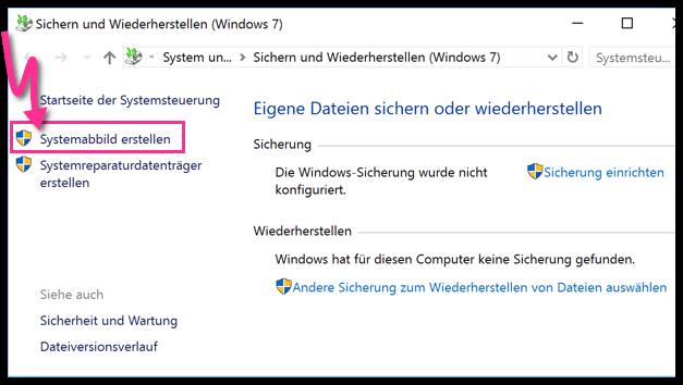 Windows 10 Systemabbildung erstellen