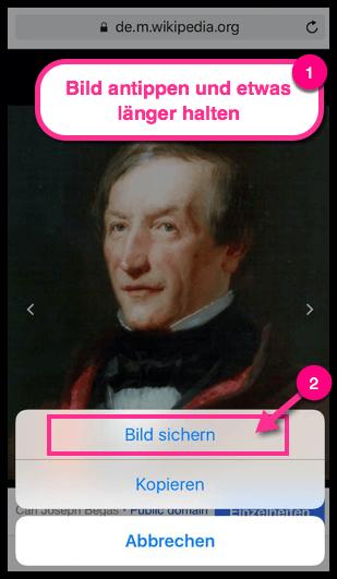 iPhone Android Bild aus dem Internet speichern