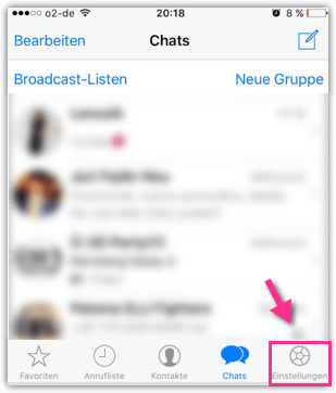 iPhone WhatsApp Einstellungen oeffnen
