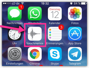 iPhone oder iPad Sprachmemos App