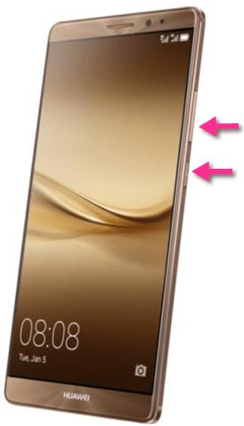 Huawei Mate 8 Screenshot Tasten