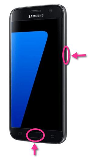 Samsung Galaxy S7 Screenshot Tasten