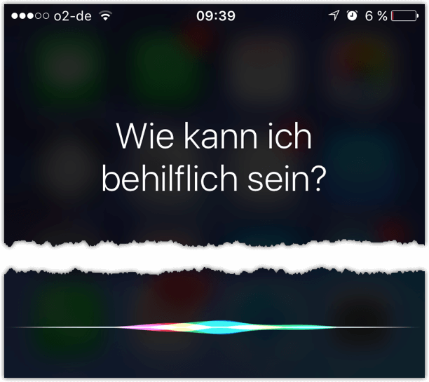 Siri Wie kann ich behilflich sein