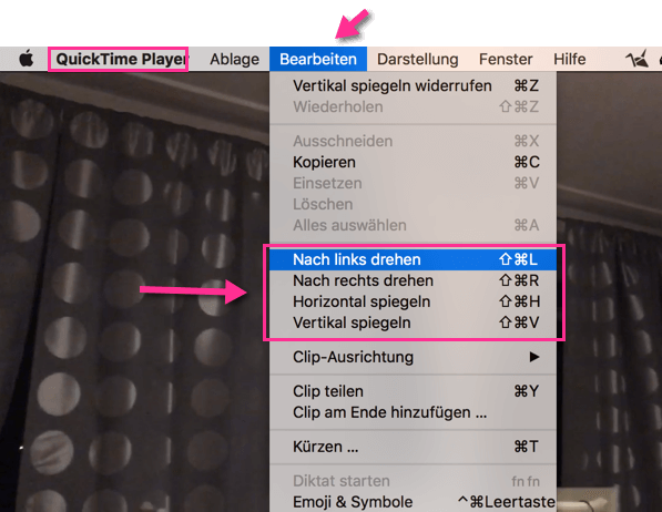 Video drehen in OS X mit Quicktime
