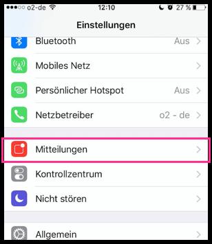 iPhone Einstellungen Mitteilungen