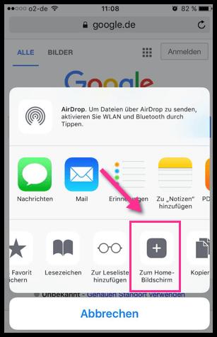 iPhone Zum Home-Bildschirm