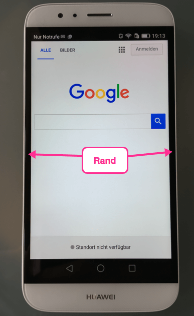 Rand Huawei GX8 G8 Nachteil