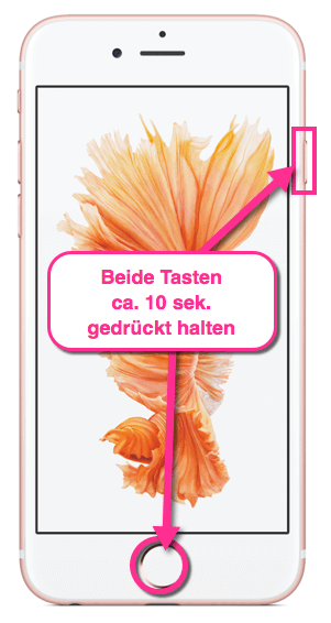 iPhone Neustart Methode 2