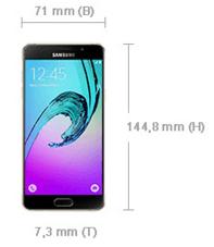 Samsung A5 2016 Abmessungen