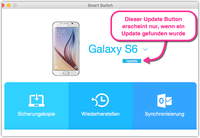 Samsung Galaxy Update mit Smart Switch