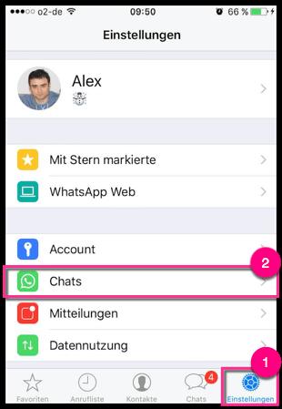 WhatsApp Einstellungen auf dem iPhone