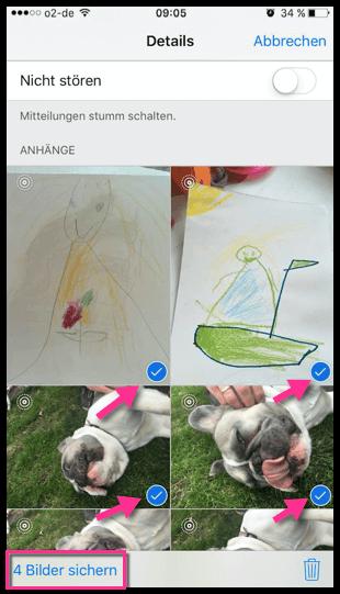 iMessage Bilder werden gesicher in der Fotos App