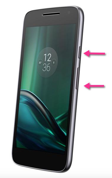 Moto G Play Screenshot-Tasten