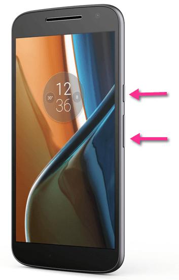 Motorola Moto G4 Screenshot-Tasten