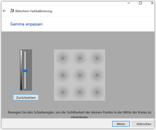 Windows 10 Gamma anpassen
