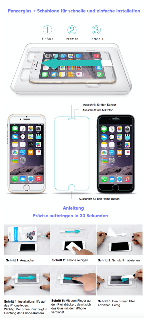 iPhone Schablone