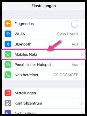 iPhone Einstellungen Mobiles Netz 2
