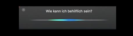 macOS Siri Sparchassitenten Screenshot OS X