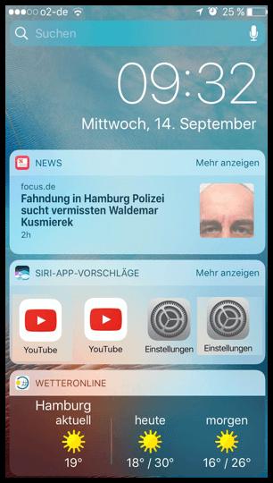 iphone ipad widgets auf dem sperrbildschirm