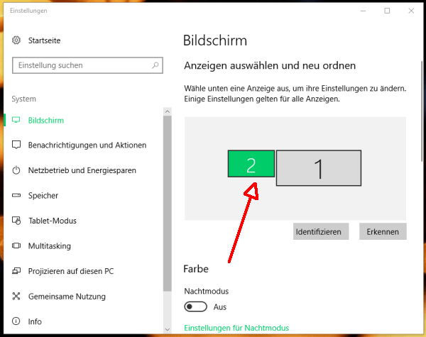 Windows 10 Bildschirme Tauschen
