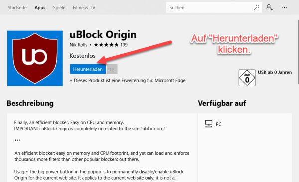 Microsoft Edge: uBlock Origin installieren - TechMixx